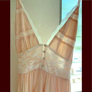 NWT Light Pink Lace Maxi Dress